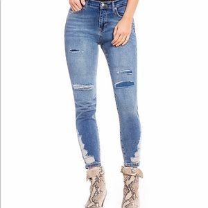 About A Girl High Rise Distressed Skinny Jeans